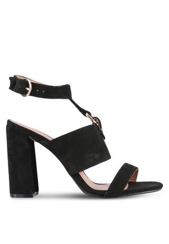 TOPSHOP black Maude Block Heel Sandals TO412SH0RV73MY_1