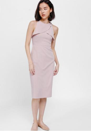 Love, Bonito pink Eremeith Ruffle Midi Dress 2E5EEAA0C87B81GS_1