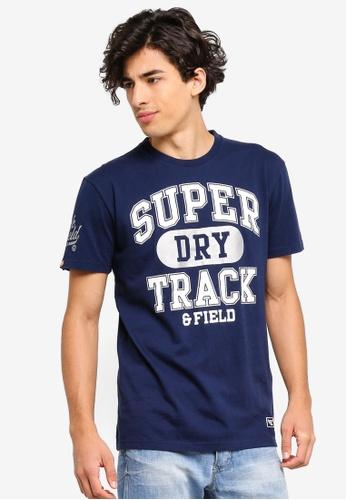 Superdry 海軍藍色 休閒品牌刺繡T恤 EC358AADBA69BEGS_1