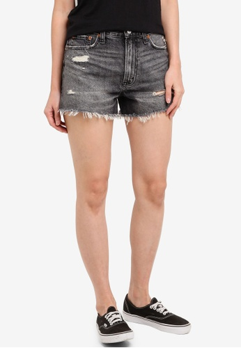 Abercrombie & Fitch black Wash Black Dest Annie Rigid Shorts AAE84AA718958BGS_1
