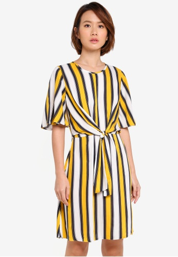 Dorothy Perkins 白色 Yellow And White Knot Dress 18511AA4D109B6GS_1