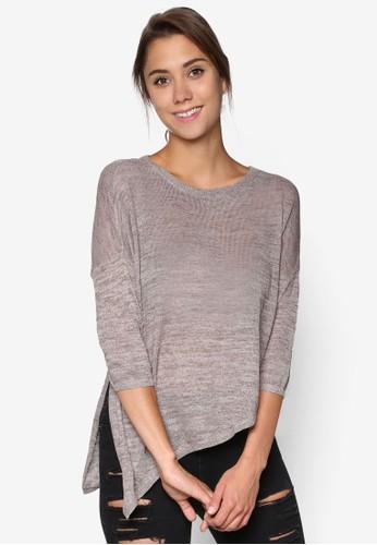 Haxby 不對稱下擺七分袖針織衫, 服飾, 外esprit outlet 桃園套