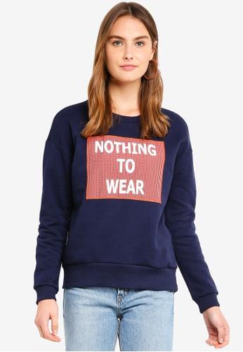 ESPRIT navy Long Sleeve Sweatshirt 6F480AA787321BGS_1