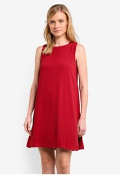 ZALORA red Essential Shift Dress 5C13BZZBB6561AGS_1