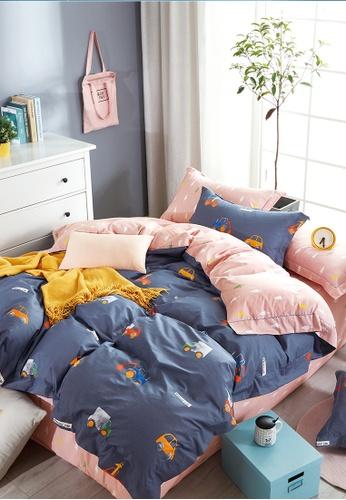 Epitex pink and blue Epitex CK2031-8 900TC Cotton Bedsheet / Bedset (w quilt cover). A5871HLCC4B331GS_1