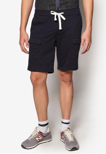 掀蓋口袋底esprit 眼鏡檔短褲, 服飾, 短褲