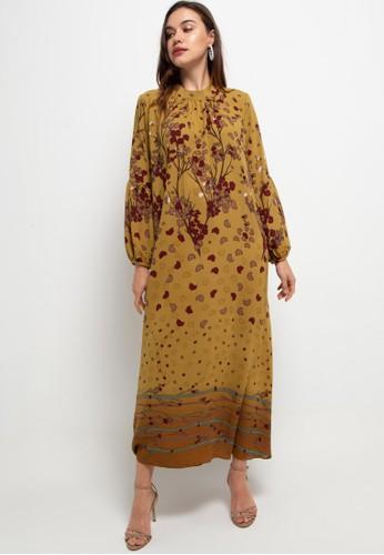 Kamilaa by Itang Yunasz brown Gamis Modern 9870CAA886021BGS_1