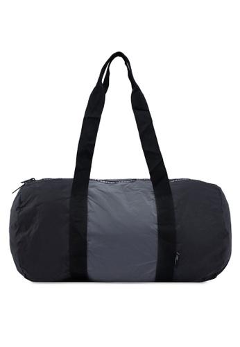 Herschel black and silver Packable Duffle Bag B7074AC4C8E5F0GS_1