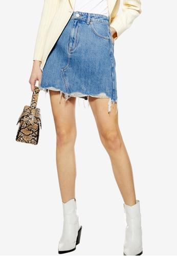 17f0154d325c Buy TOPSHOP Ripped Denim Mini Skirt Online on ZALORA Singapore