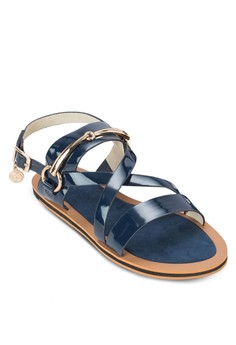 Flat Sandals with Ankle Straps