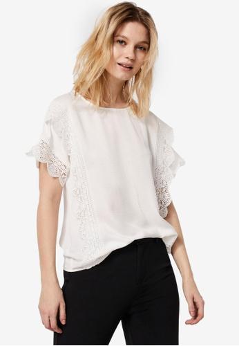 Vero Moda white Peri Short Sleeves Top AB51CAA6671F41GS_1