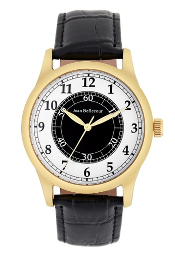 Jean Bellecour gold Jean Bellecour JB1042 Men's Gold Analogue Quartz Watch with Leather Bracelet 1D1FBAC913999AGS_1
