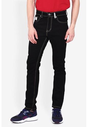 OliveInch Olive Black Line Jeans
