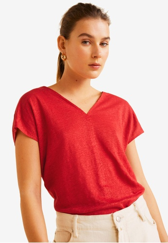 aa0ca0d89e Shop MANGO Linen T-Shirt Online on ZALORA Philippines