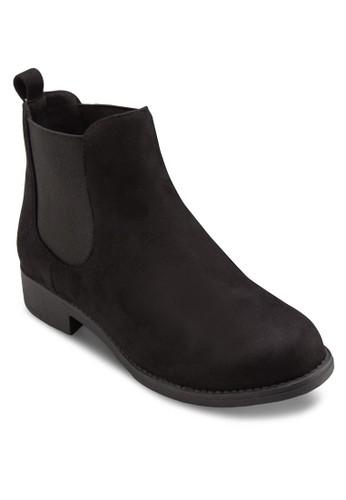 麂皮暗紋切爾西短靴, 女鞋, 靴esprit 童裝子