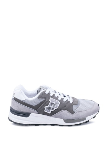 polo ralph lauren grey Trackstar 100 Athletic Sneakers CFAC3SH605968DGS_1