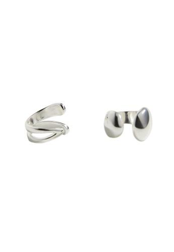 Mango silver Hoop Ear Cuffs 7874CAC26B6008GS_1