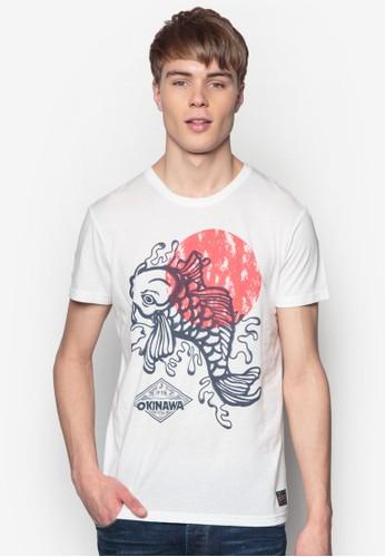 Bayesprit outlet 台中u 和風印花TEE, 服飾, 印圖T恤