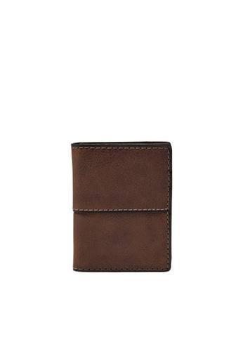 FOSSIL brown Ethan Card Case SML1069201 EBB7FAC3F93708GS_1