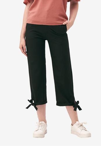 Kodz black Tie Detail Wide-Leg Culottes 1E3C5AA4674EE2GS_1