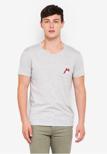 ESPRIT grey Short Sleeve T-Shirt AA073AA6A350E9GS_1
