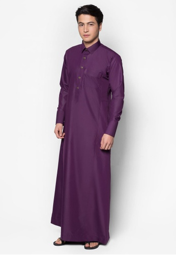 Amar Amran purple Jubah A Daler Yusuf Edition Slim Fit (Mangosteen Purple) 4430CAA6DFA414GS_1