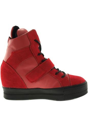 Maxstar red Maxstar Women's C2 Velcro Hidden Heel Suede High Top Sneakers US Women Size MA164SH87PYQSG_1