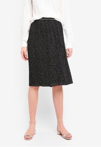 Abercrombie & Fitch black Pleated Midi Skirt 824ACAA1E6A7CFGS_1