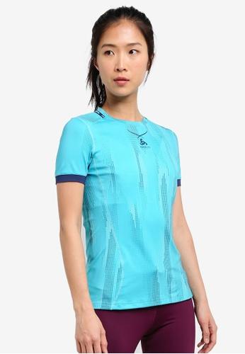 Odlo multi Crew Neck Ceramicool Pro Print Short Sleeve Shirt OD608AA0S11JMY_1