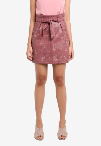 a8e8674741 Buy TOPSHOP Embroidered Paperbag Mini Skirt Online | ZALORA Malaysia
