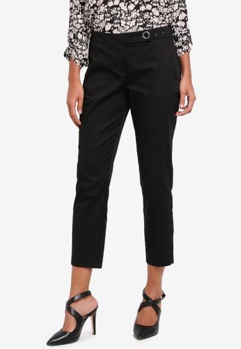 Dorothy Perkins black Poplin Ankle Grazer Trousers DO816AA0S09XMY_1