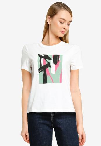 Vero Moda white Isla Short Sleeve Graphic T-Shirt 27E3DAA263963EGS_1