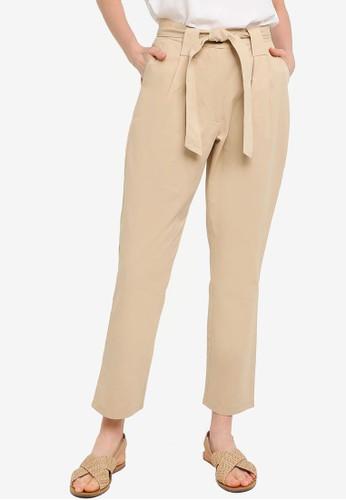 Compania Fantastica orange and yellow Dart Paperbag Trousers 8E264AA2C0A89AGS_1