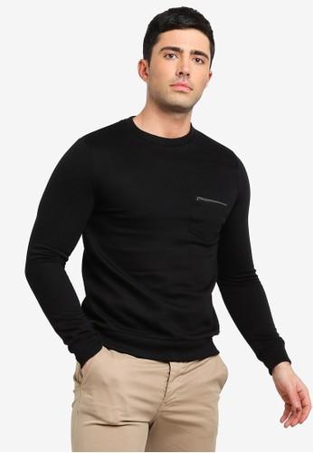 Brave Soul black Crew Neck Sweatshirt D52F9AA5B401FBGS_1