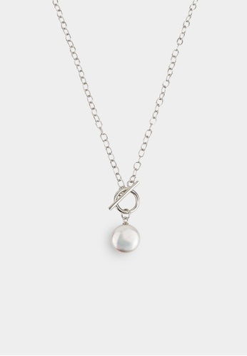 monojewelry COIN PEARL AND SILVER CIRCLE PENDANT 17FA3AC1012996GS_1