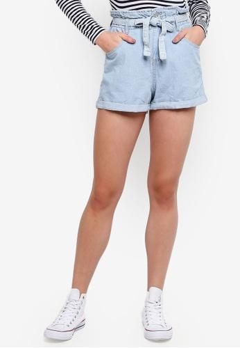Cotton On blue Paperbag Shorts 6D1F9AA7E9022DGS_1