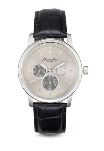 10019562 經典圓框手錶, 錶類, 皮革esprit台灣outlet錶帶