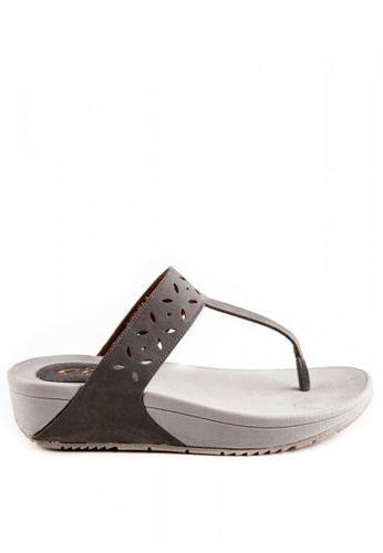 Otto grey Laser Cut Slide Sandals OT407SH0JI34PH_1