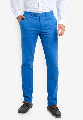 Brooks Brothers 藍色 修身直筒長褲 78863AA854E03DGS_1