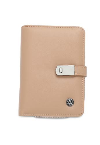 Volkswagen beige RFID Short Purse EE62CACEC55364GS_1