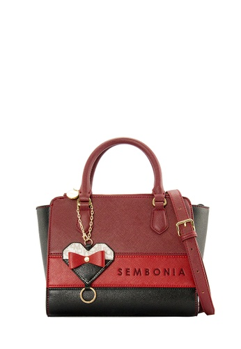 SEMBONIA red SEMBONIA Synthetic Leather Satchel Bag (Red) SE598AC0SZO2MY_1