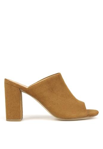 Betts brown Mila Block Heel Mules 30C44SH6828D3DGS_1