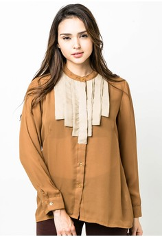 Plus Size Min Long Sleeves Blouse