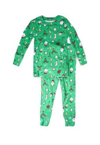 GAP green Xmas Pyjama Set F361CKA889F054GS_1