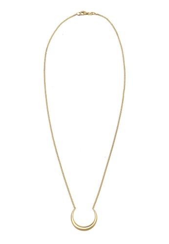 新月鍍金項鍊, 飾品esprit home 台灣配件, 項鍊