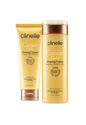 Clinelle Firming: Clinelle [Official] CaviarGold Firming Cleanser (100ml) + Firming Lotion (180ml) CL708BE28EYDMY_1