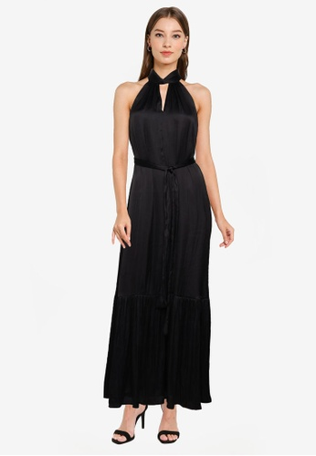 Banana Republic black SL TWIST NECK MAXI SOLID 57E1AAA37A1CC4GS_1