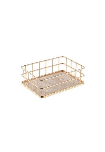 DILAS HOME Small Metallic Basket (Champagne Gold) 59451HLA0F553CGS_1