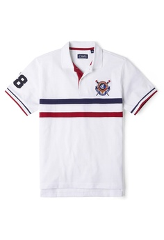 065a3aa4a CHAPS white Short Sleeve Heritage Polo Shirt AAA97AAA9F9DCEGS 1
