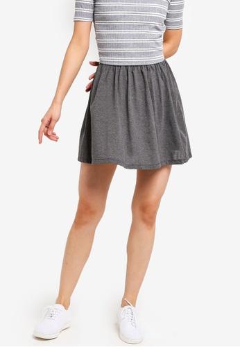 ZALORA BASICS grey Basic Jersey Skater Skirt F93D2AAA709199GS_1
